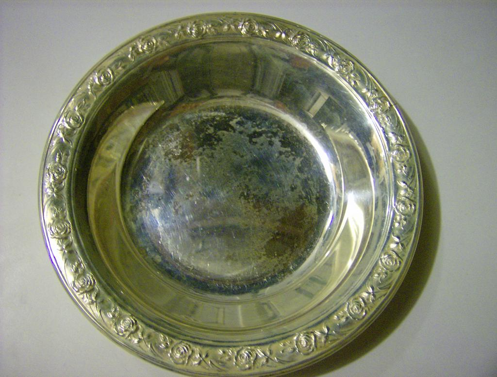 Reed & Barton Silverplate Bowl Classic Rose