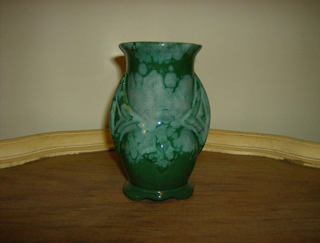 Blue Green Drip Glaze Pottery Vase