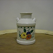 Porcelain Milk Can Utensil Holder