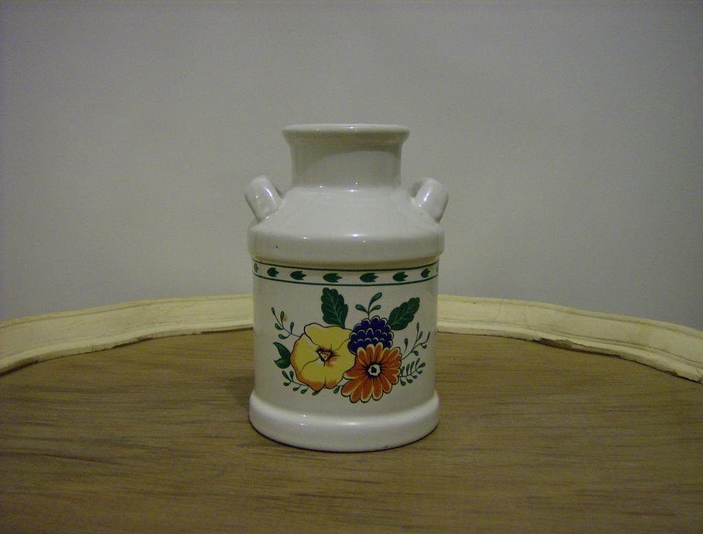Porcelain Milk Can Utensil Holder