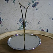 Kromex Tidbit Tray ~ 1950's ~ Brass and Chrome