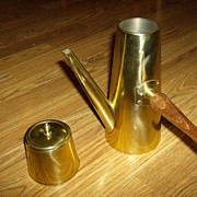 Brass Tea Pot and Brass Tea Caddy