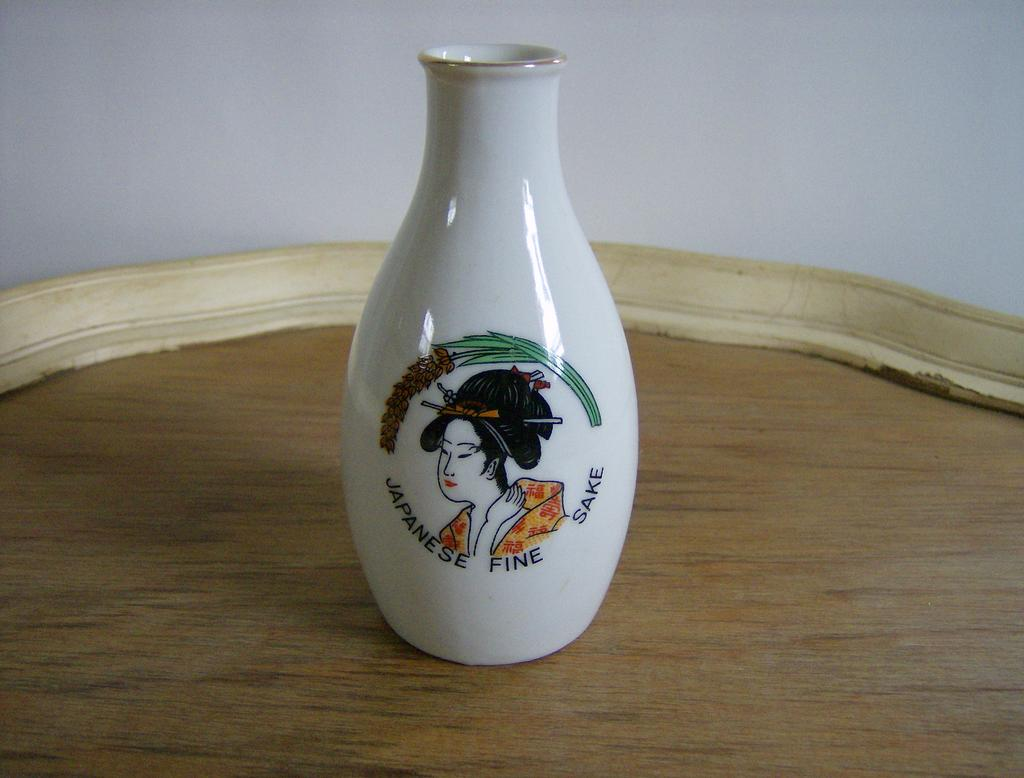 Japanese Fine Sake Porcelain Bottle