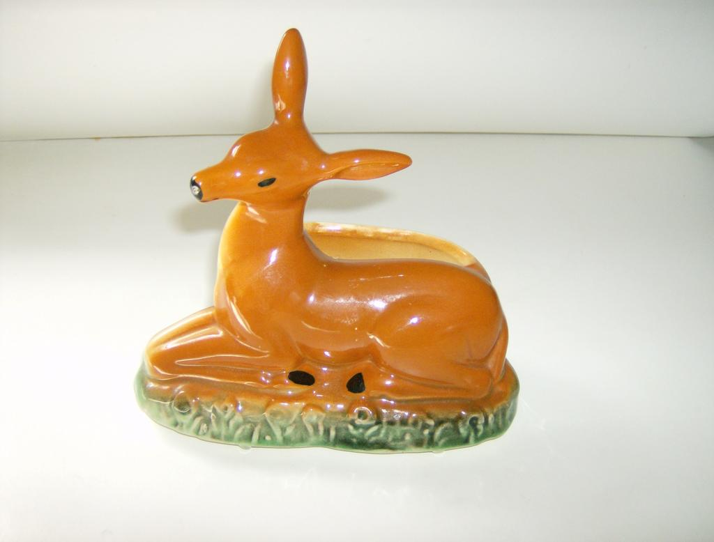 Cameron Clay Pottery Deer Planter