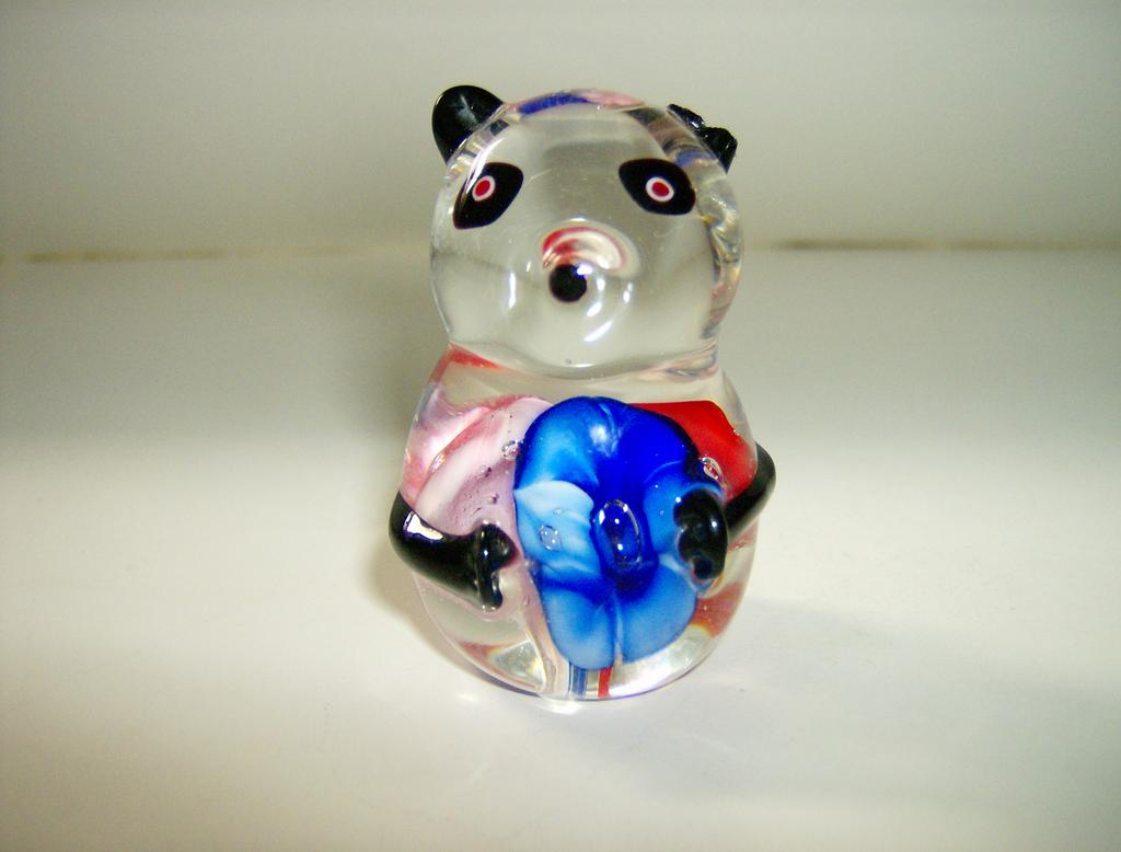 Blown Glass Bear Paperweight