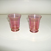 Cranberry Flashed Juice Glasses