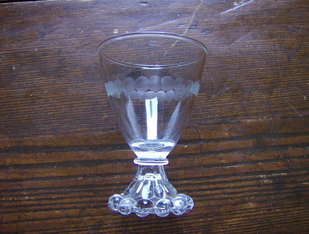 Etched Boopie Glass by Anchor Hocking