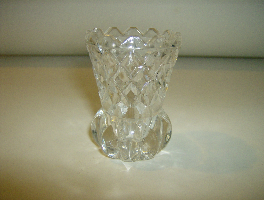 Clear Pressed Glass Toothpick Holder