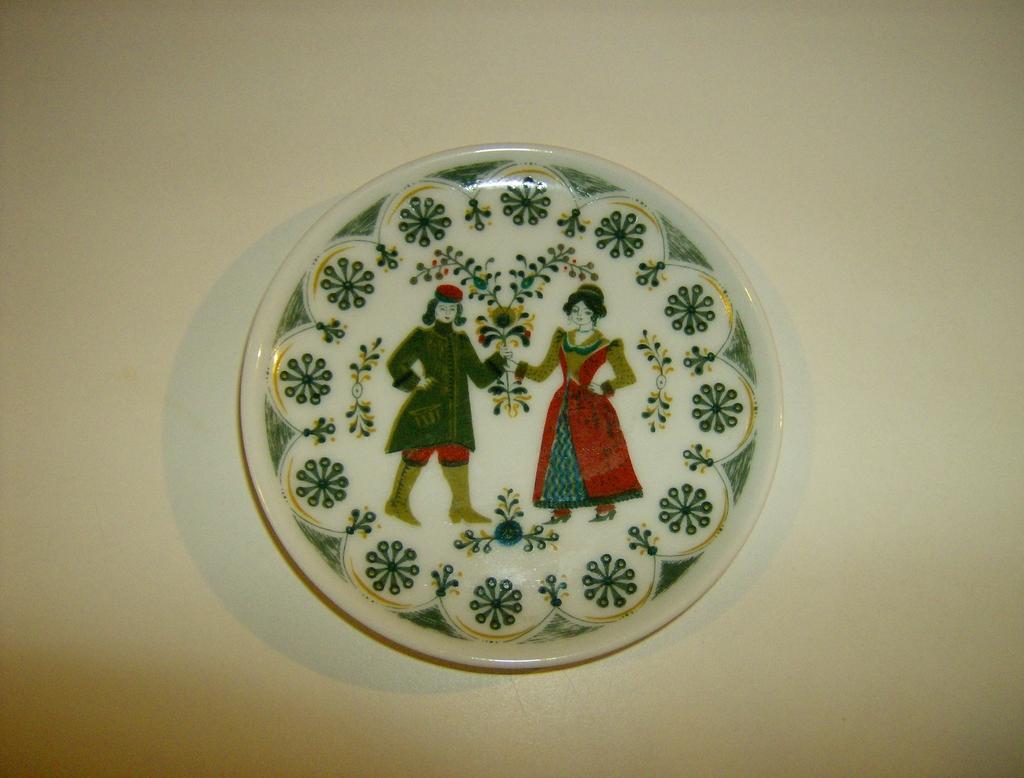 Kurt Hammer German Folk Art Plate
