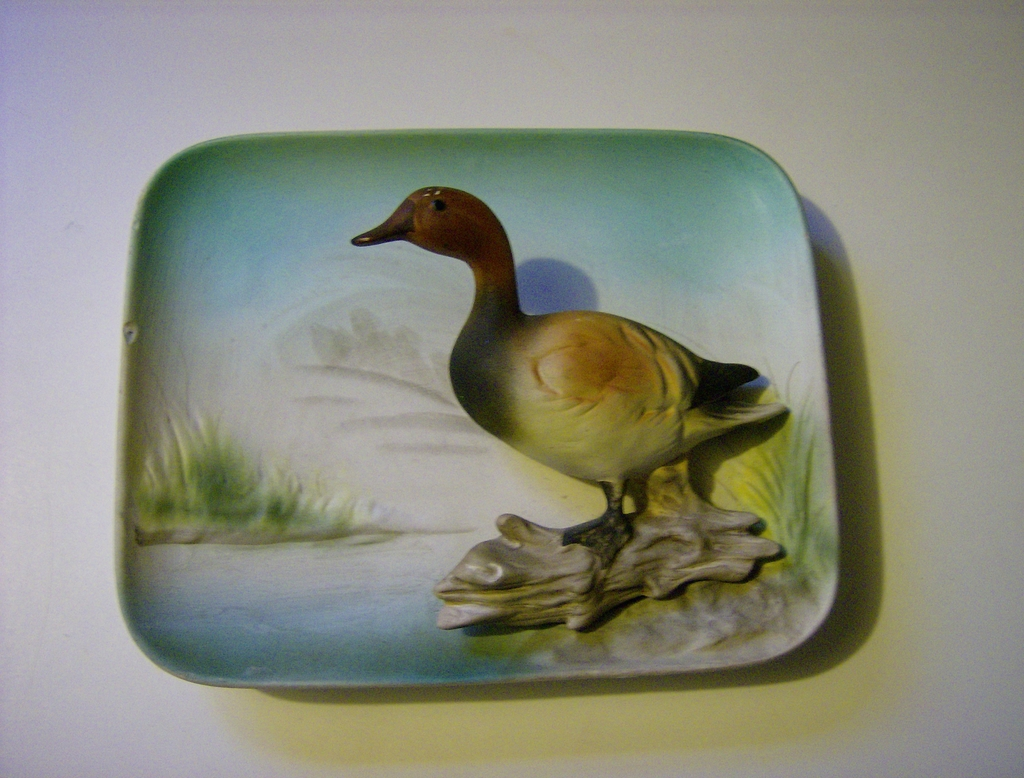 Enesco 3-D Ceramic Wall Plaque - Canvas Back Duck