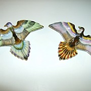 Shafford Hand Painted Bird Wall Plates