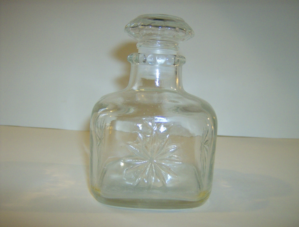 Pressed Glass Perfume Bottle ~ Owens-Illinois Glass Co.