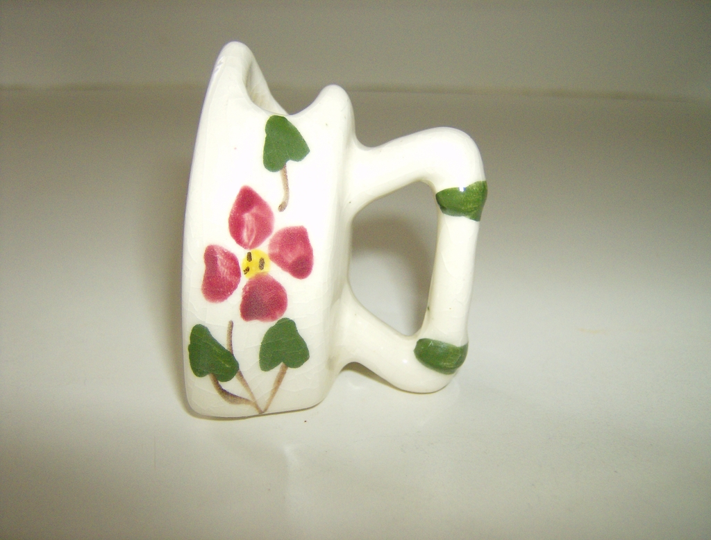 Mini Porcelain Sad Iron Toothpick Holder
