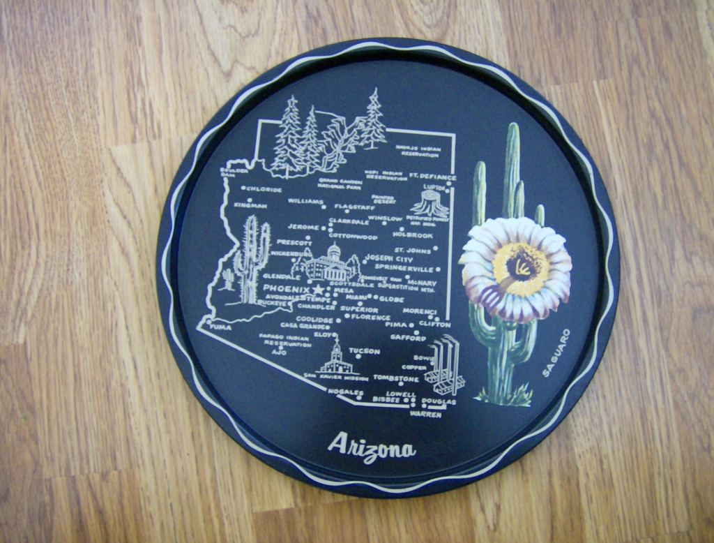 Souvenir Tin Litho Tray - Arizona
