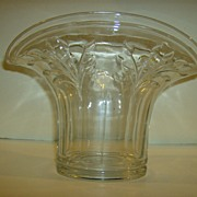 Pressed Glass Fan Shaped Vase