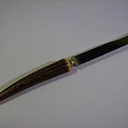 Bakelite Steak Knife Faux Stag Horn Handle
