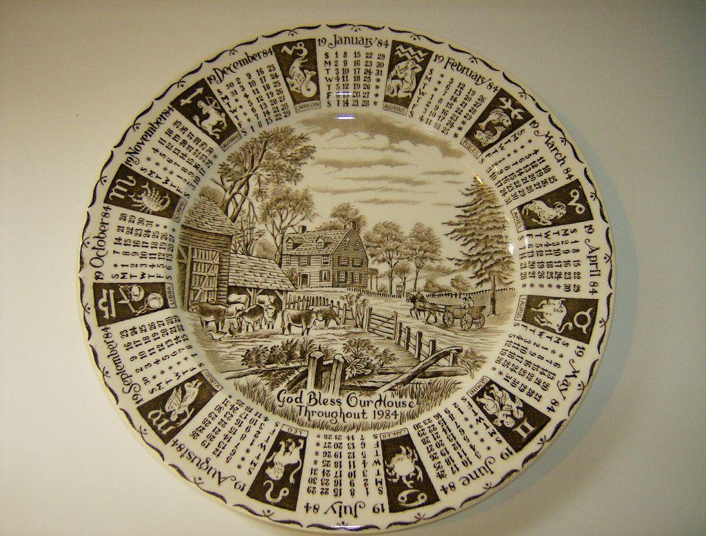 Royal Staffordshire 1984 Zodiac Calendar Plate