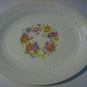 Small Oval Serving Platter - Floral Pattern