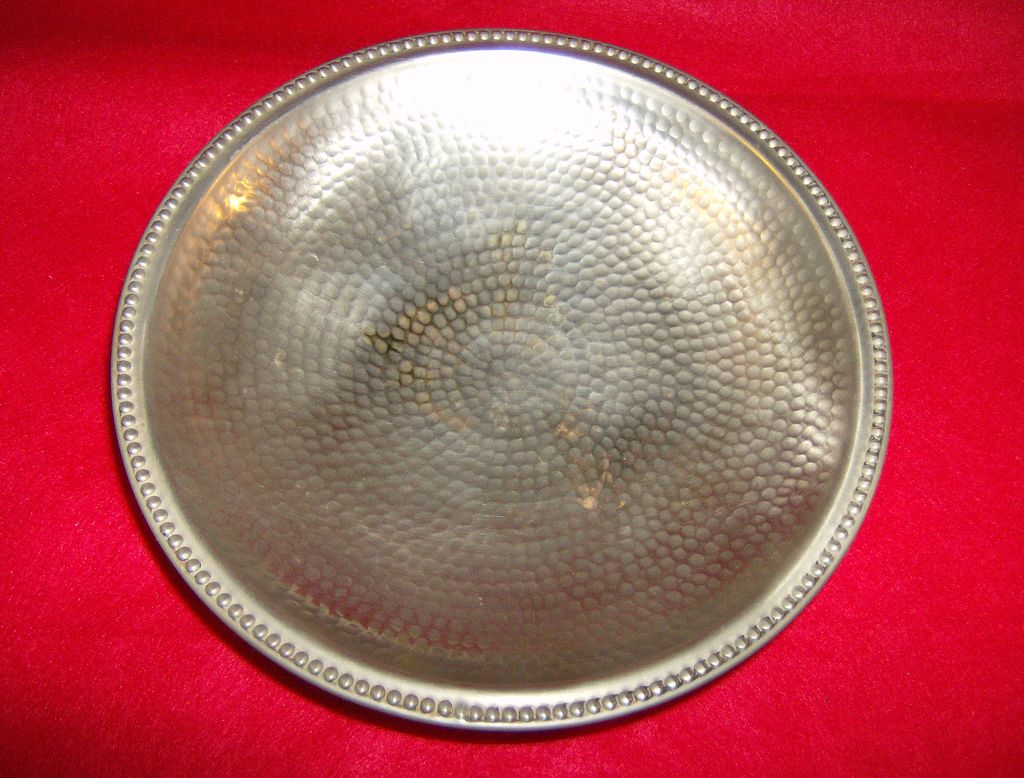 Hammered Brass Pedestal Fruit Bowl ~ Made in India