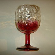 Cranberry Flash Glass Goblet