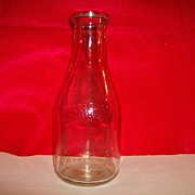 Duraglas Owens Illinois Milk Bottle ~ 1948