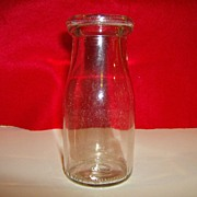 Glass Half Pint Milk Bottle - Liberty Glass Company - 1942
