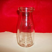 Glass Half Pint Milk Bottle - Thatcher Manufacturing Company - 1939