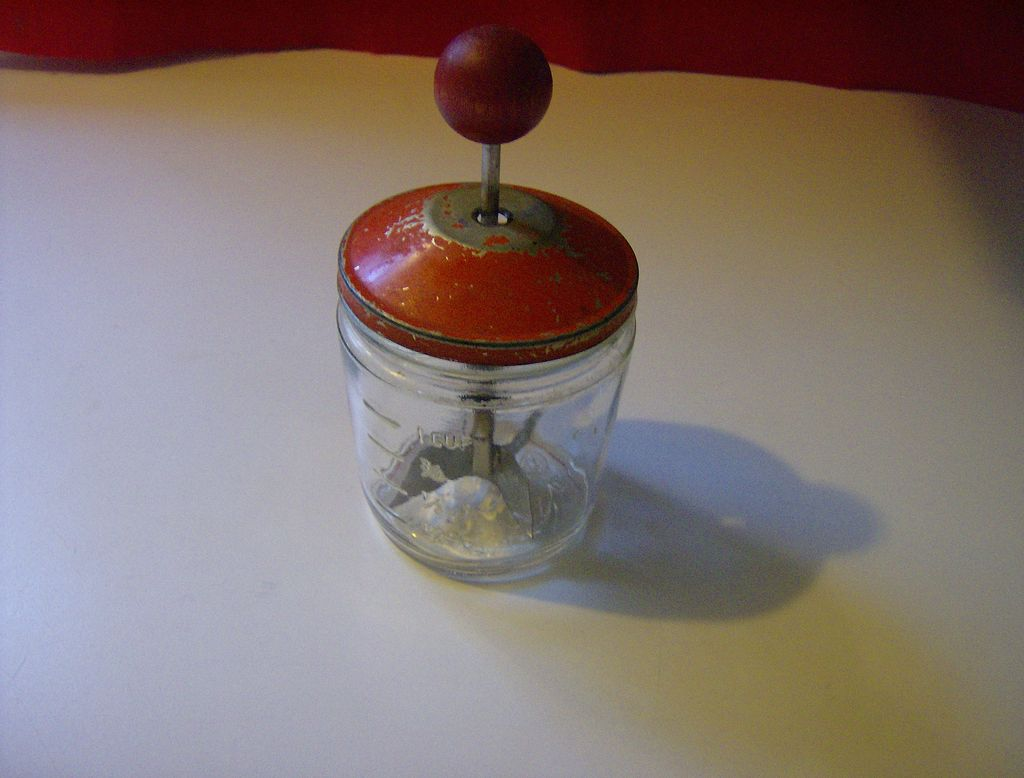 Vintage 1 Cup Food/Nut Chopper ~ Skippy  Peanut Butter Jar