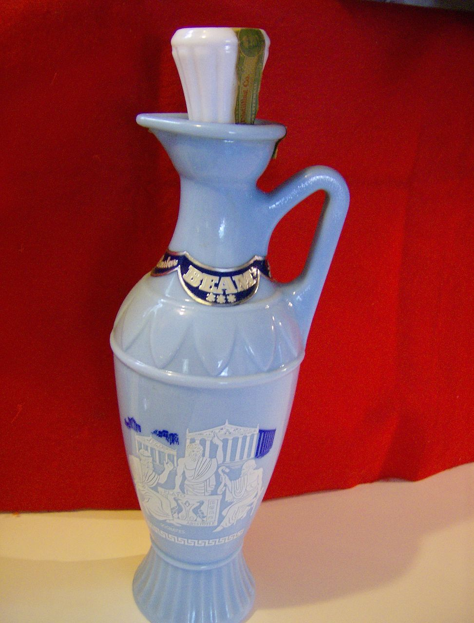 1961 Jim Beam Grecian Glass Series Decanter From
