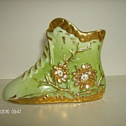 Victorian Hand Painted Porcelain Shoe/Bootie