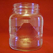 Hazel Atlas Diamond Pattern Square Canister/Jar
