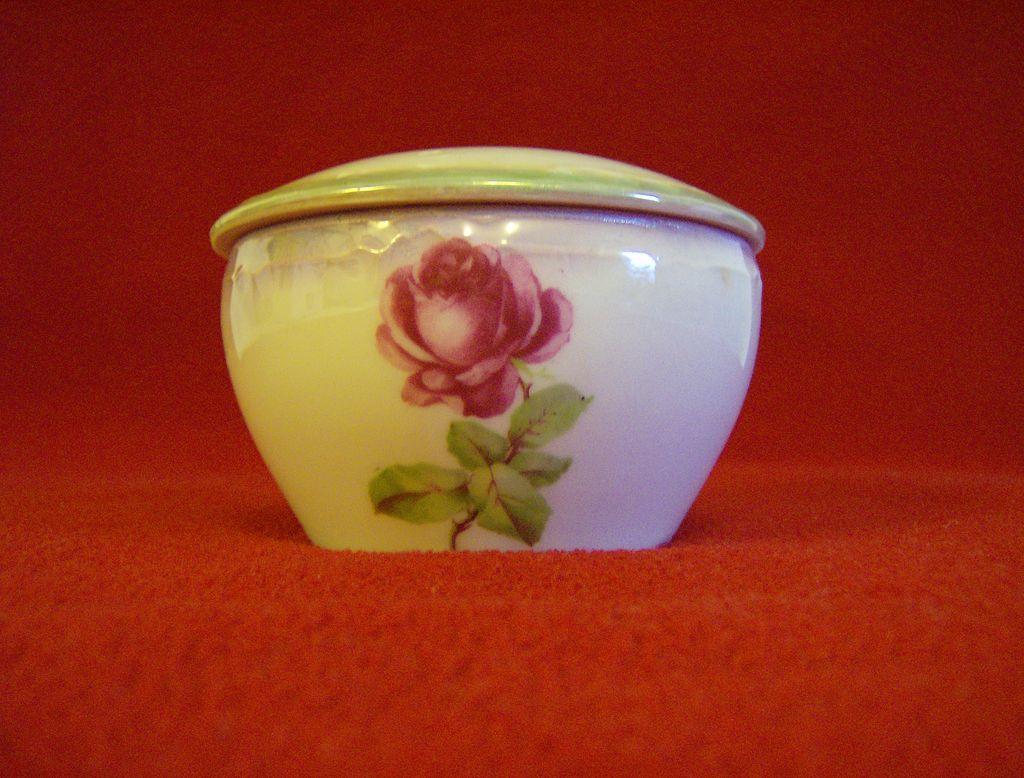 German Porcelain Powder Bowl