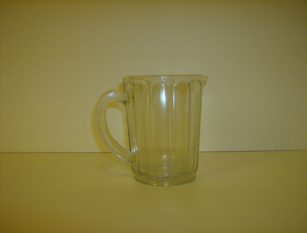 Hazel Atlas Crystal Raised Panel Milk Pitcher