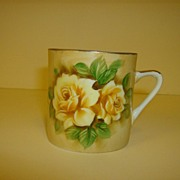 Lefton Brown Floral Coffee Mug