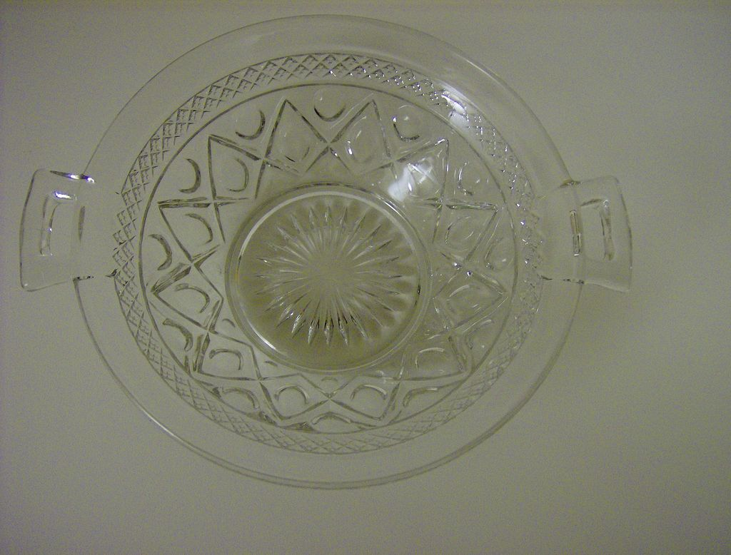 Imperial Glass Cape Cod Handled Bowl