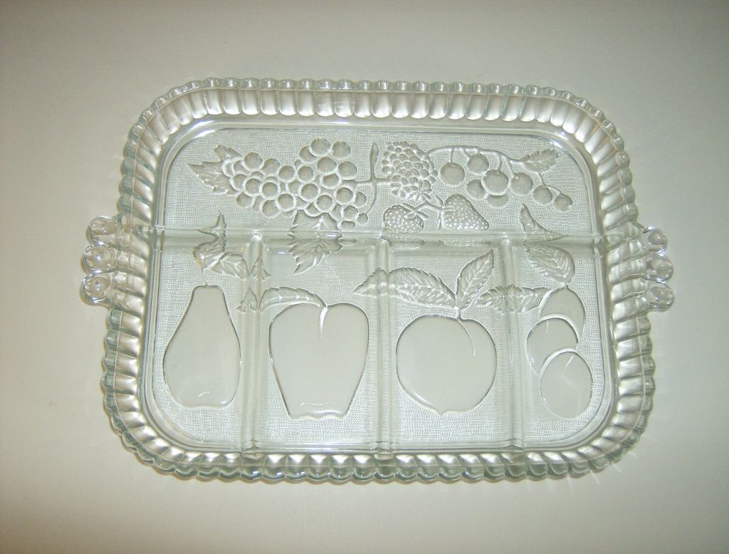Indiana Glass Crystal Relish Tray