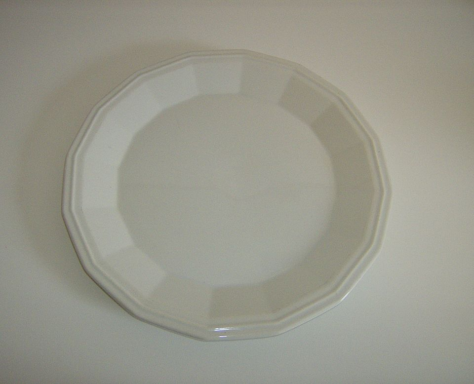 White Dover Ironstone Chop Plate/Platter ~ Homer Laughlin