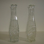 Anchor Hocking ~ Wexford Pattern ~ Bud Vases ~ Set of 2