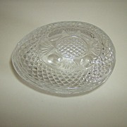 Avon Fostoria Crystal Egg Soap Dish ~ Mother's Day 1977