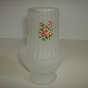 Frosted Glass Fairy Lamp with Applied Flowers