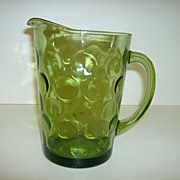 Hazel Atlas ~ Eldorado Green ~ Glass Pitcher