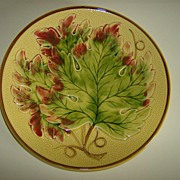 Majolica Plate ~ Oak Leaf ~ Made in Germany