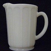 Hazel Atlas Milk Glass Pitcher