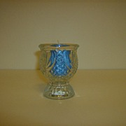 Early American Pressed Glass Candle Holder