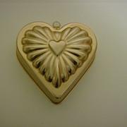 Copper Color Aluminum Heart Jello Mold