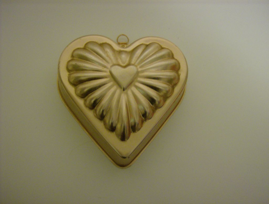 Copper Color Aluminum Heart Jello Mold