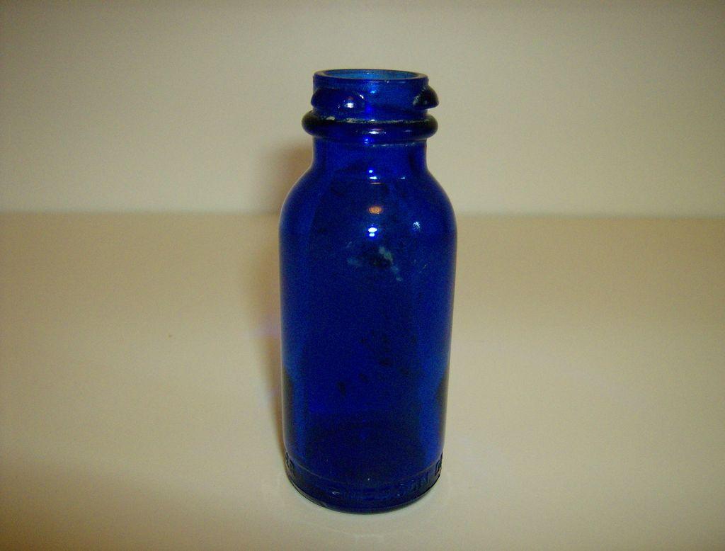 Cobalt Blue ~ Bromo Seltzer Bottle ~ Emerson Drug Co.
