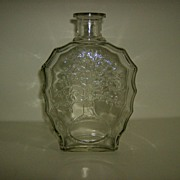 Anchor Hocking Tree of Life Whiskey Decanter Bottle