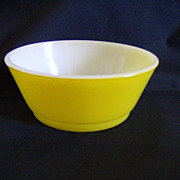 Oven-Proof Anchor Hocking Yellow  Bowl