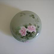 Z.S. & Co. Bavaria  ~ Handpainted ~  Porcelain Trinket Jar, Powder Jar
